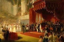 De inhuldiging van koning Willem II in de Nieuwe Kerk te Amsterdam, 28 november 1840 Nicolaas Pieneman, 1840 – 1845 (Rijksmuseum)