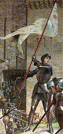 d'Arc met banier