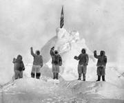 De expeditieleden naar eigen zeggen op de noordpool