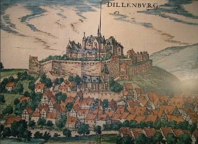 Oude afbeelding van Slot Dillenburg