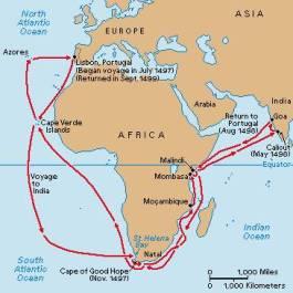 Route van Vasco da Gama