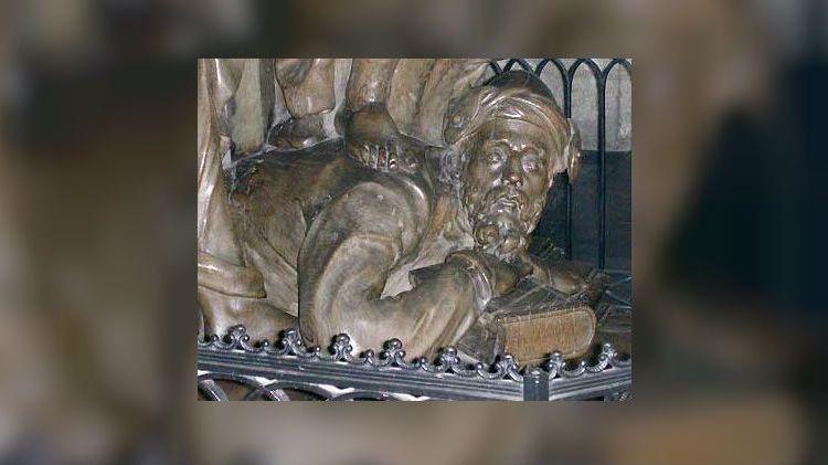 Fragment van de vertrapte man op de preekstoel - cc