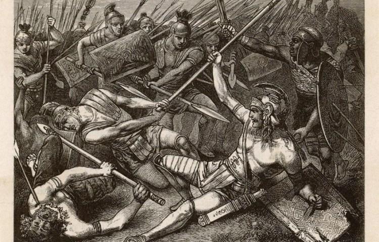 De dood van Spartacus - Hermann Vogel (1882)