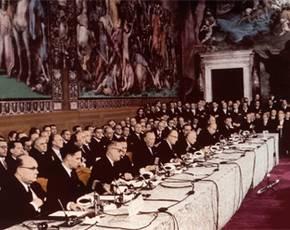 Ondertekening van het Verdrag van Rome