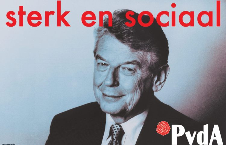 Wim Kok op de campagneposter van 1998 (PvdA)