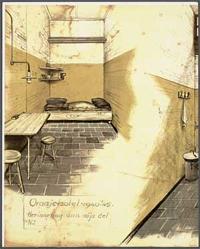 Een gevangeniscel tijdens de Tweede Wereldoorlog. Bron:Archief Stichting Oranjehotel