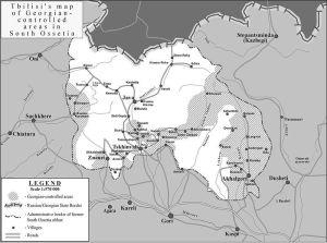 Kaart van Zuid-Ossetië