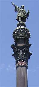 Standbeeld van Columbus aan de Ramblas in Barcelona