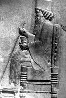 Afbeelding van de Perzische koning Xerxes