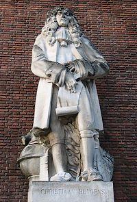 Standbeeld van Christiaan Huygens aan de Schiekade in Rotterdam