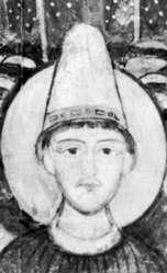 Paus Adrianus II - detail van een fresco uit de 11e eeuw