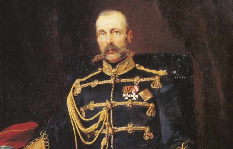 Tsaar Alexander II van Rusland, geschilderd door Konstantin Makovski