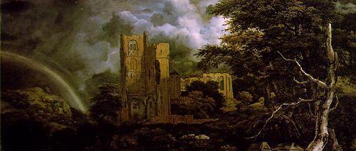 Ruïne van de Abdij van Egmond (Jacob Ruisdael, ca. 1655-60)