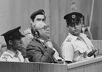 Demjanjuk tijdens een rechtzaak in 1988
