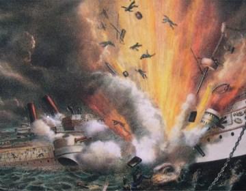 Explosie van het Amerikaanse slagschip Maine