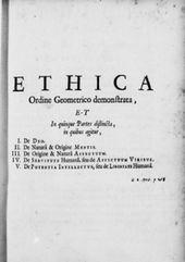 Voorbeeld van Spinoza's werk Ethica