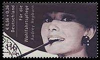 Hepburn-postzegel geveild voor 67.000 euro