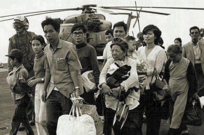 Vietnamese vluchtelingen na de val van Saigon.