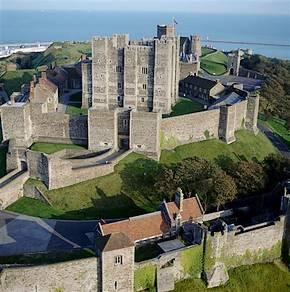 Dover Castle vanuit de lucht gezien