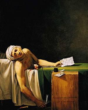 De dood van Marat (Schilderij van Jacques-Louis David)