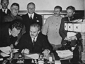 Ondertekening van het Molotov-von Ribbentrop-pact