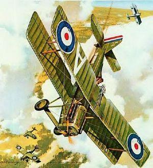 Impressie van Mannock's laatste luchtgevecht boven Noord Frankrijk