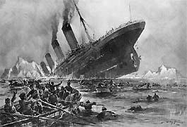 Ramp met de Titanic