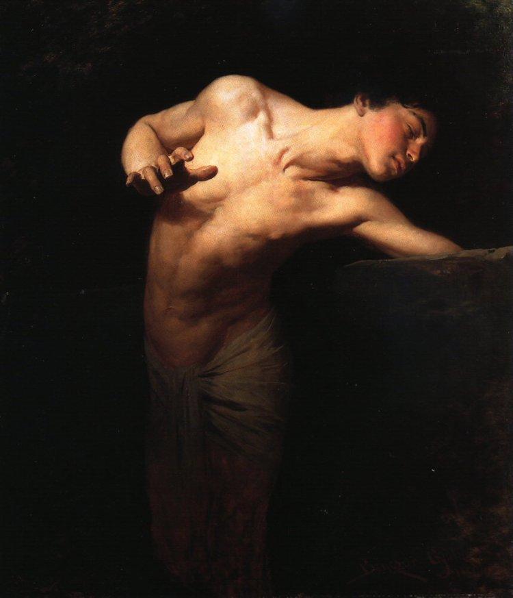 Narcissus volgens Benczúr Gyula, 1881