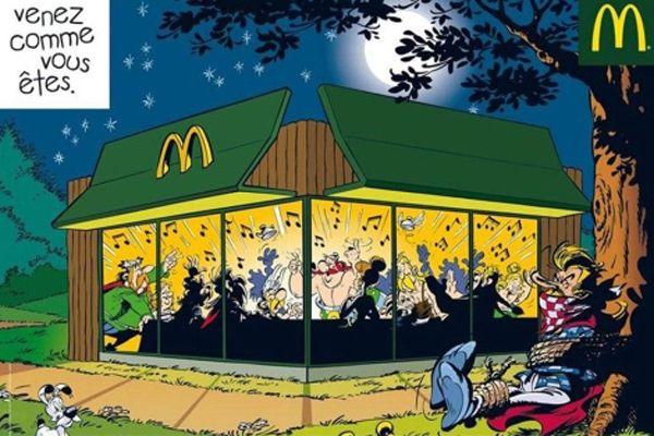 Asterix en Obelix maken reclame voor McDonalds