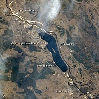 NASA-foto van het rampgebied
