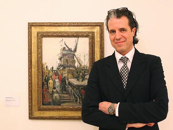 Ralph Keuning, directeur Museum de Fundatie, voor het werk 'Le blute-fin' van Vincent van Gogh
