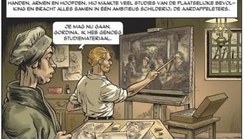 Van Gogh werkt aan 'De aardappeleters'