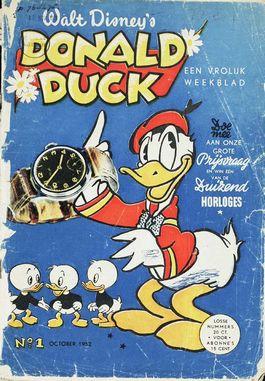Eerste editie van de Nederlandse Donald Duck (KB)