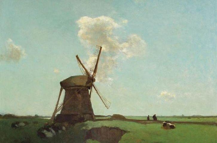 Mei 2011 kocht museumgoudA dit schilderij van Jan Hendrik Weissenbruch voor 109.000 euro