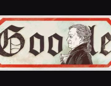 Google Doodle ter ere van Wolfgang von Goethe