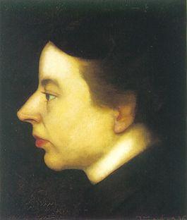 Portret uit 1916 van Anne Zernike geschilderd door haar man