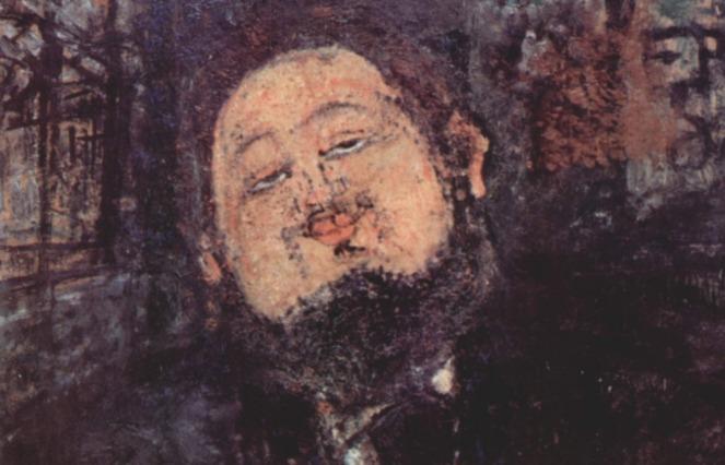 Portret van Diego Rivera door Amedeo Modigliani, uit 1914