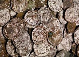 Willekeurige foto van enkele oude munten