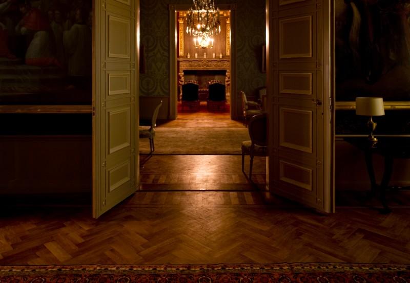 Vertrek in Paushuize, het huis van de paus in Utrecht