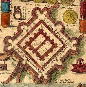 De Brittenburg op een oude gravure