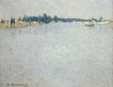 La Seine, Le Matin (Saint Ouen) – Charles Angrand, 1886 – Van Gogh Museum