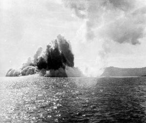 Uitbarsting van de vulkaan Krakatau - Foto: Tropenmuseum
