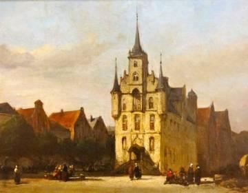 De Markt van Gouda omstreeks 1880 - Johannes Bosboom (Museum GoudA)
