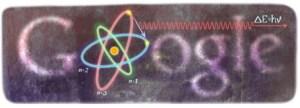 Google Doodle voor Niels Bohr