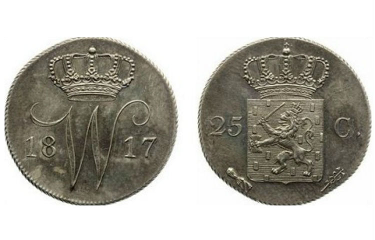 Het kwartje uit 1817 – Foto: MPO