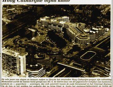 Bericht over Hoog Catharijne uit De Waarheid van 21 juli 1982 – Bron: Krantenarchief KB