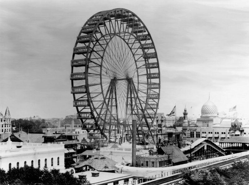 Het Ferris Wheel in 1893 (wiki)