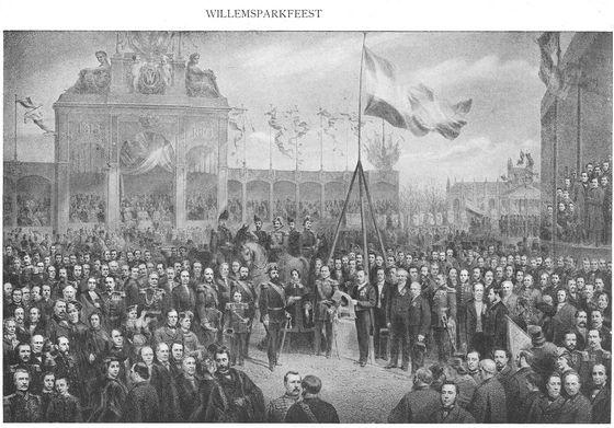 Uit: Nederlandsche Historieprenten (1555-1900). Platenatlas ten gebruike bij de studie der Vaderlandsche Geschiedenis, samengesteld en toegelicht door G. van Rijn met medewerking van G.W. Kernkamp (Amsterdam: S.L. van Looy, 1910)