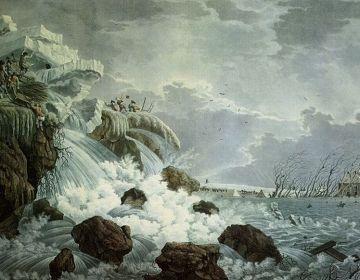 De NTR komt onder meer met een serie over de strijd tegen het water - Dijkdoorbraak bij Bemmel, 1799 (Rijksmuseum Amsterdam)