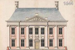 Mauritshuis in 1634 - Ontwerptekeningen van Van Campen (Mauritshuis)